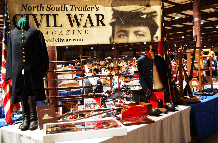 North South Trader Civil War Magazine Booth Display