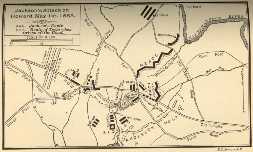 Jacksons Attack on Howard, May 1st, 1863