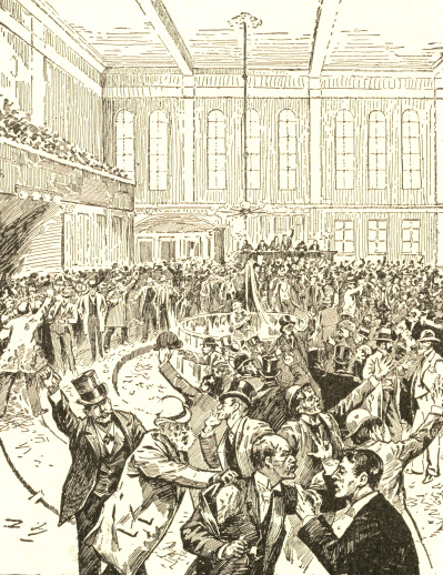 The New York Gold Room on Black Friday, September 24, 1869